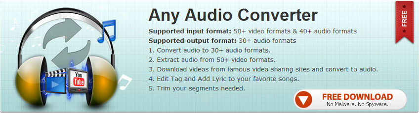 Any Audio Converter Freeware Banner